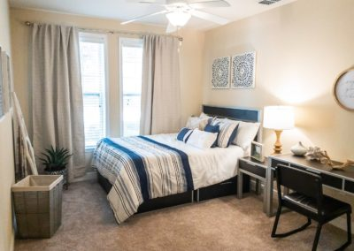 Fully-Furnished Bedroom with Queen-Size Bed