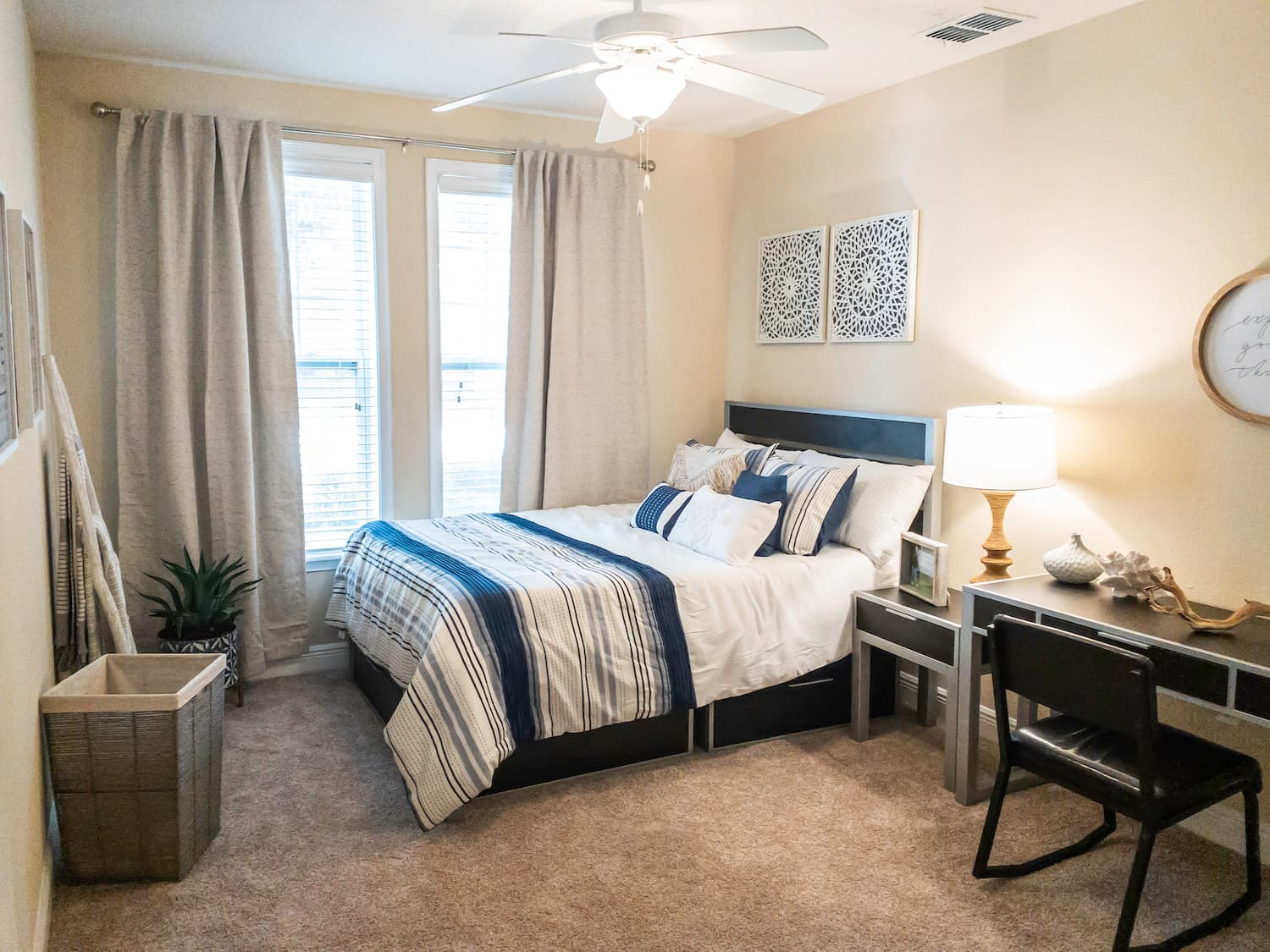 Fully-Furnished Bedroom w_ Queen-Size Bed