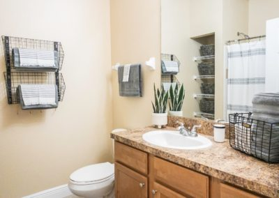 Large Bathroom with Plenty of Storage Space