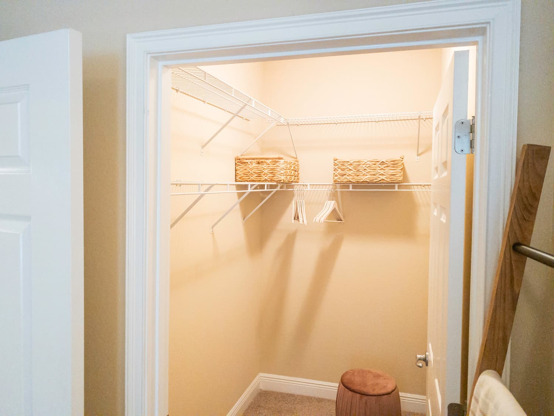 Multilevel Closet Storage