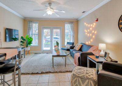 Living Room at Lyons Corner Apartments
