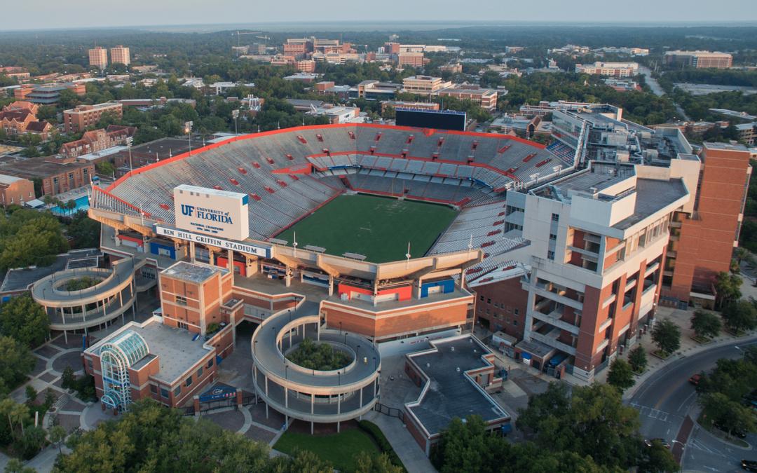 Aerial View of Ben Hill Griffin Stadium in Gainesville, Florida